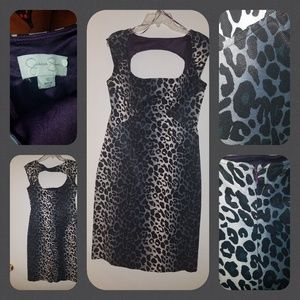 Jessica Simpson Denim Leopard-style Dress